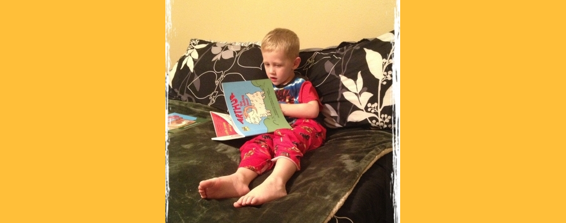 """Mommie, these are my favorite books!"""